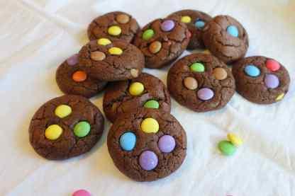 Smartie Cookies-3